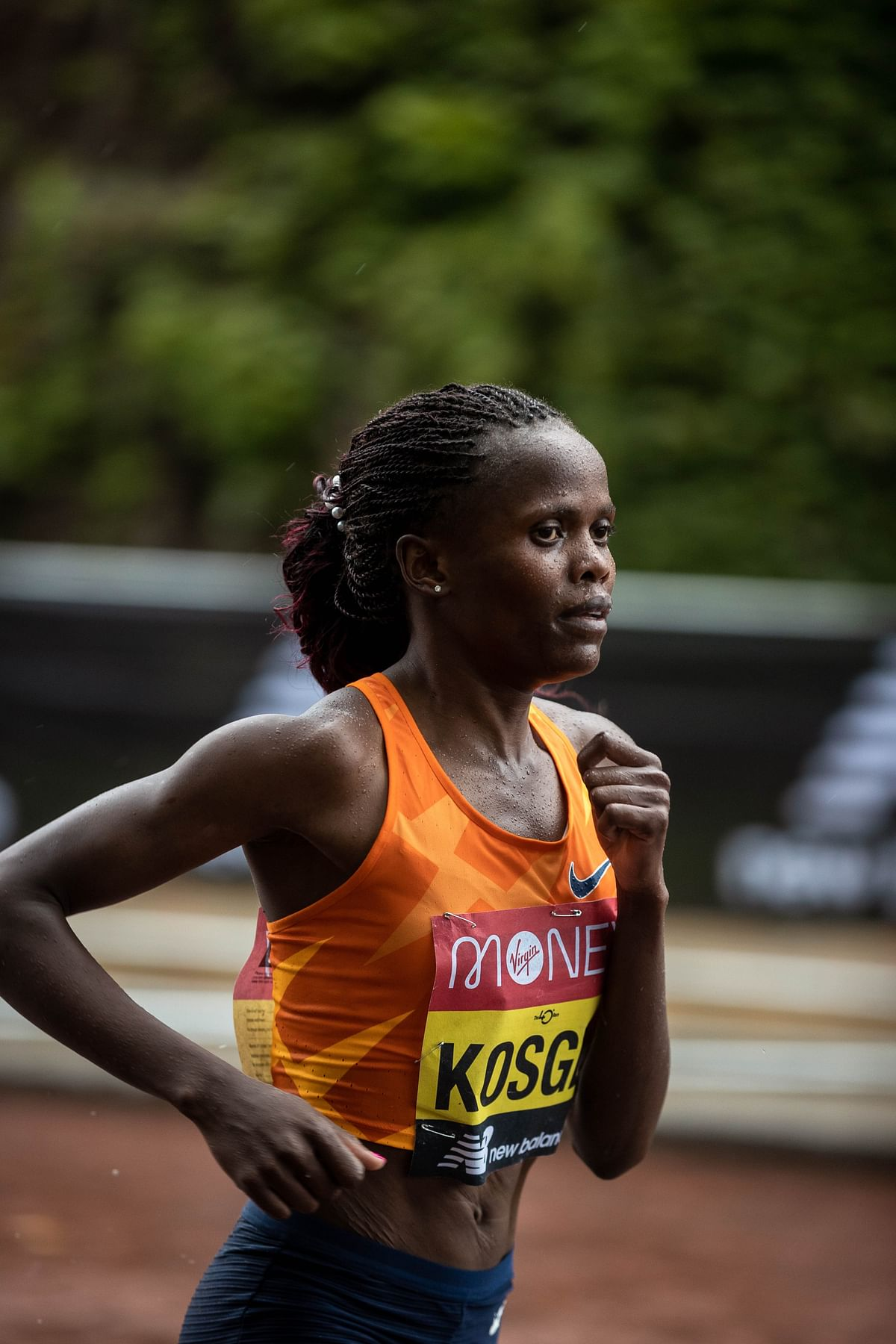 World record holders Brigid Kosgei and Ababel Yeshaneh for Airtel Delhi Half Marathon