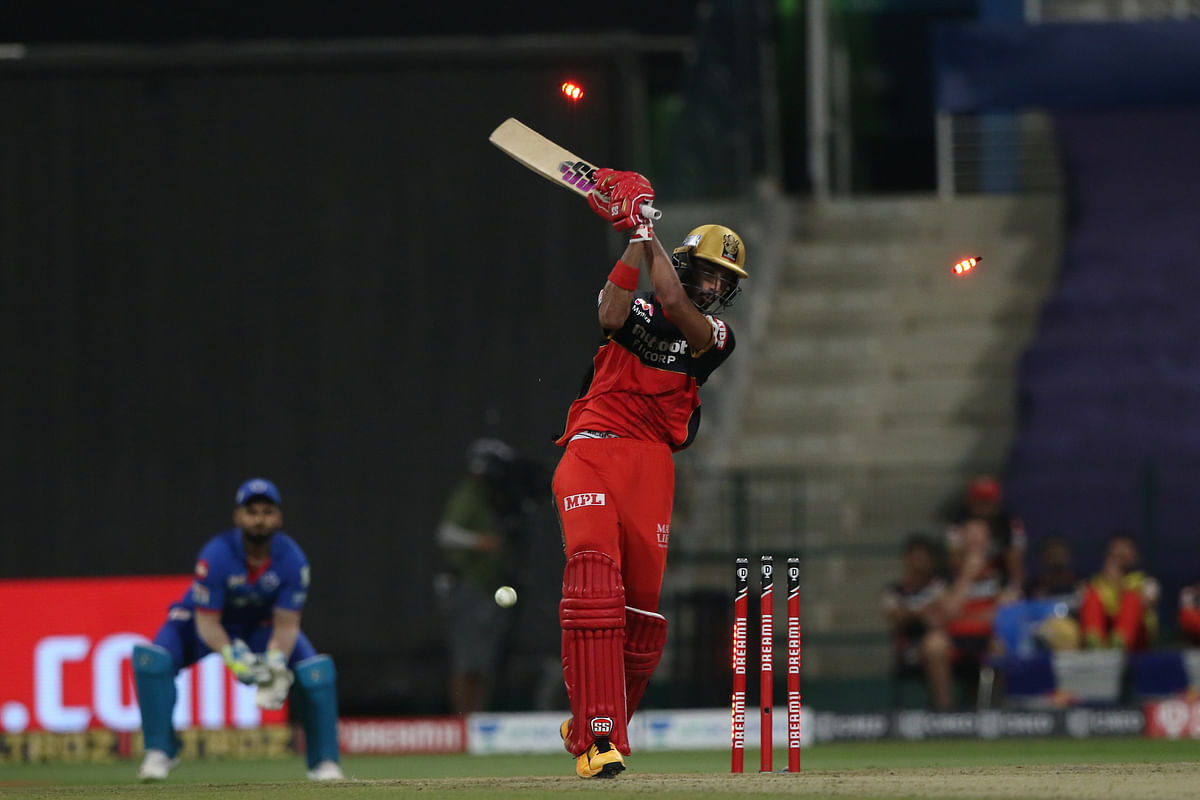 Devdutt Padikkal of Royal Challengers Bangalore in action during their match against Delhi Capitals in the Indian Premier League (IPL) in Abu Dhabi on November 2, 2020.