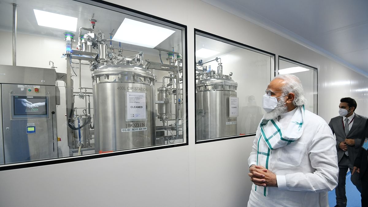 Modi visits COVID-19 vaccine facilities in three cities, discusses ways of improving distribution
