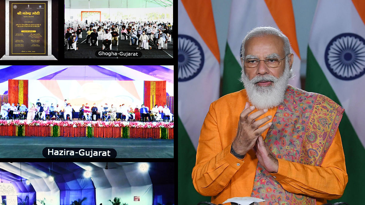 Modi says capacity of ports being increased, new ports being constructed