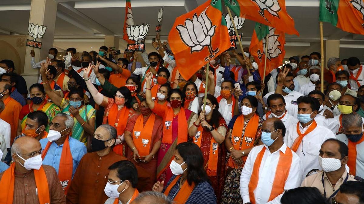 BJP wins all 8 Gujarat seats, official announcement awaited