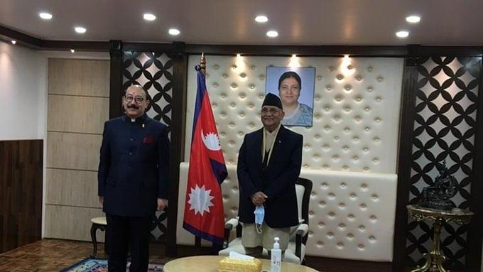 Want to resolve all disputes through talks, Oli tells Shringla