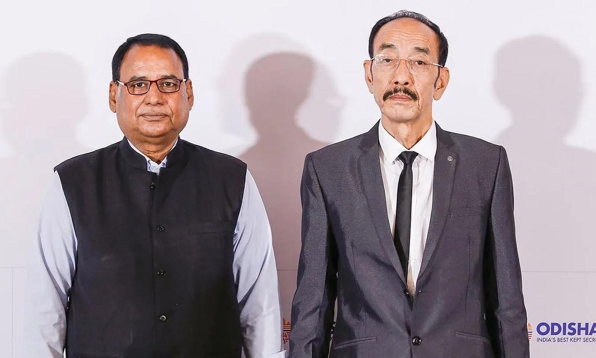 Gyanendro Nigombam (right) and Mohd Mushtaque Ahmad