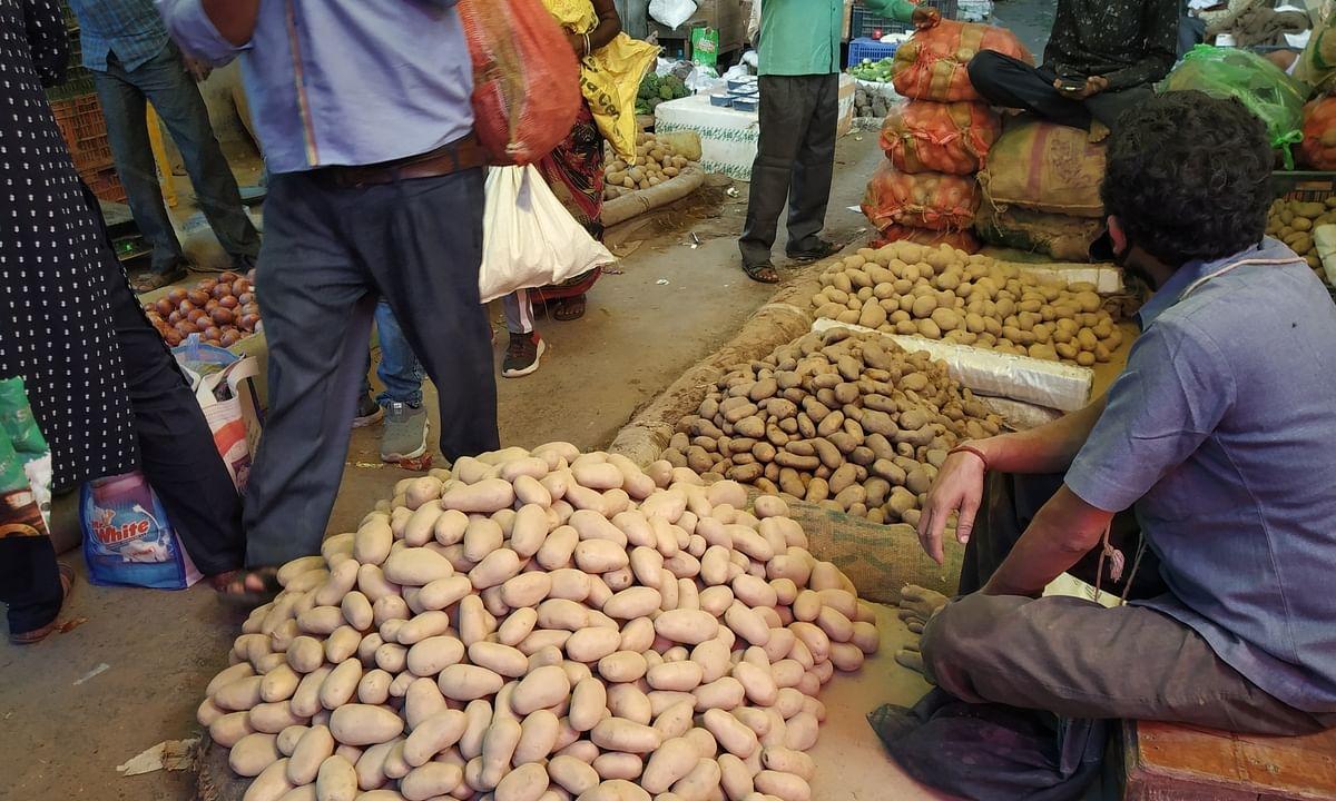 The Azadpur Sabzi Mandi (Vegetable Market) in Delhi.