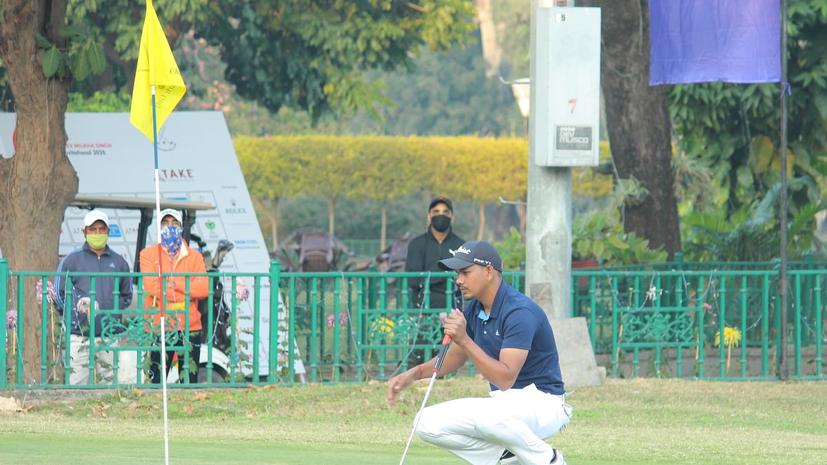 Golf: Akshay Sharma stays at the top with a 71 on day three of Jeev Milkha Singh Invitational