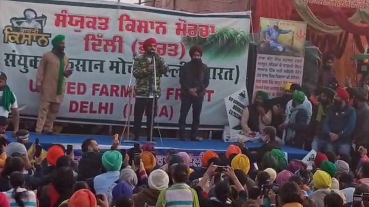 Diljit Dosanjh joins farmers' protest at Singhu border