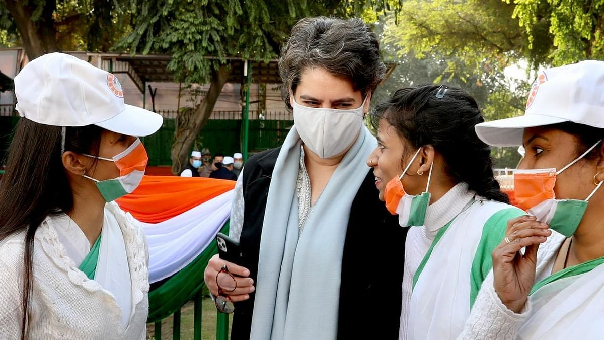 Congress celebrates 135th foundation day, Priyanka Gandhi slams govt on farmers' agitation