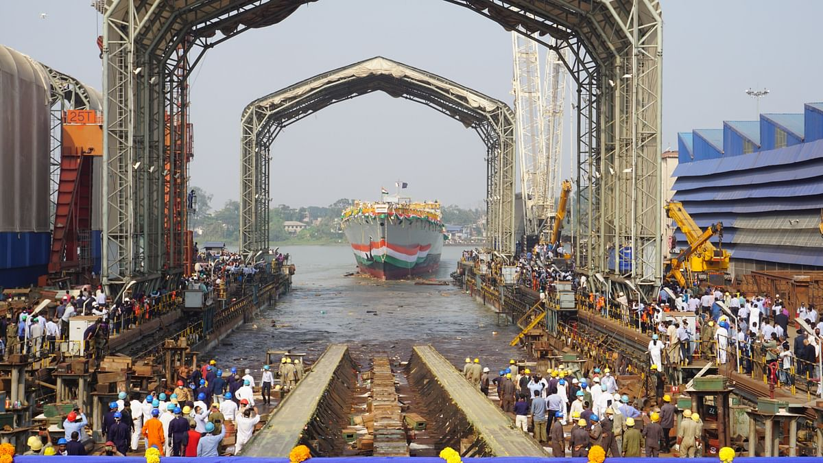 'Himgiri', the first of three Project 17A ships, launched