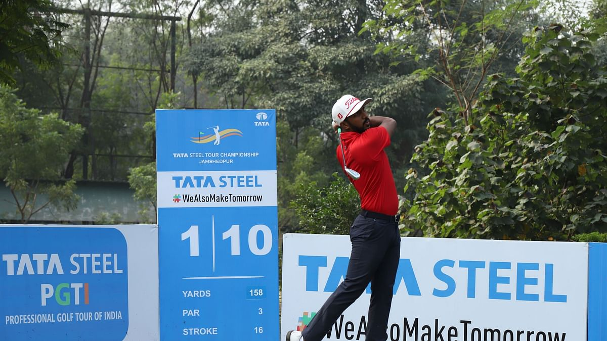Golf: Chikkarangappa, with blistering 62, leads at Tata Steel Tour Championship