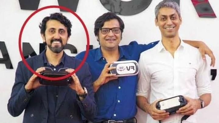 Republic TV CEO Vikas Khanchandani (left) with its Managing Director and Chief Editor Arnab Goswami in this file picture.