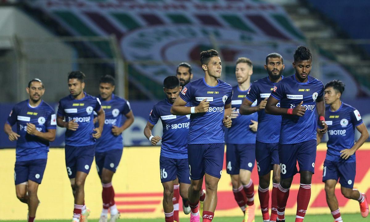 Mohun Bagan players training ahead of their fixture against Bengaluru FC in the Hero ISL7 at Fatorda in Goa on December 21, 2020.