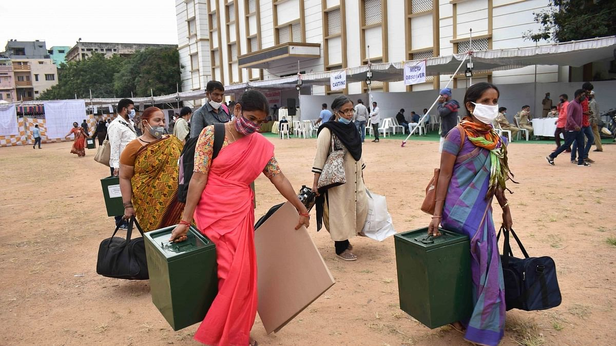 Polling underway in Greater Hyderabad amid tight security
