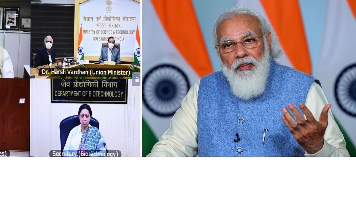 Prime Minister Narendra Modi addressing via video conference the India International Science Festival in New Delhi on December 23, 2020.