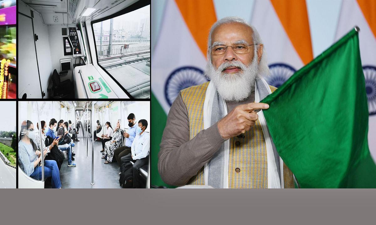 Modi inaugurates India's first driverless train operations on Delhi Metro's network