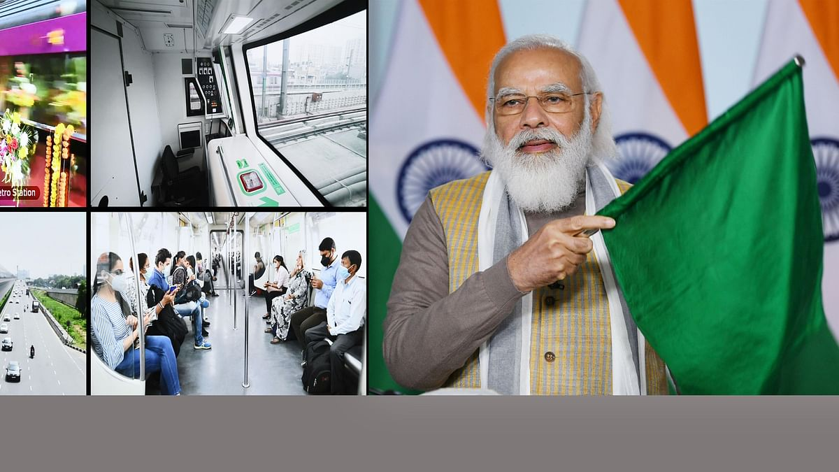 Modi inaugurates India's first driverless train operations on Delhi Metro's network