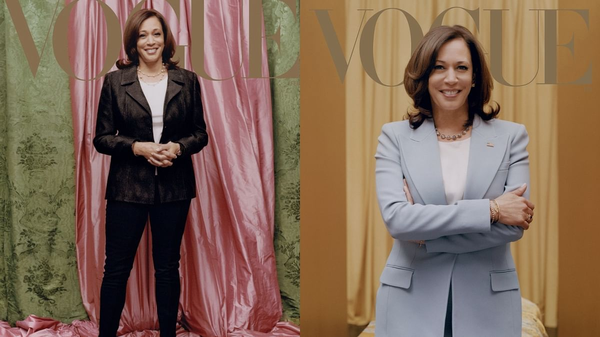Pink or blue, casual or formal? Vogue goes rogue with Kamala Harris cover picture
