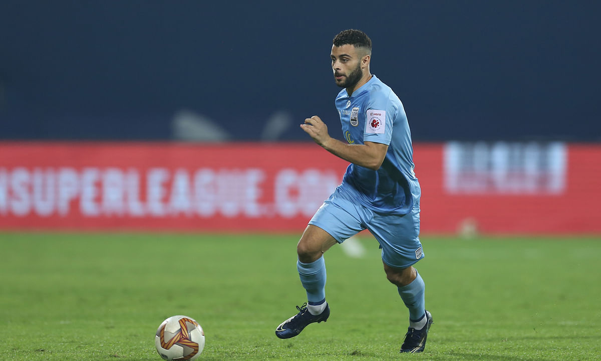 Mumbai City's Hugo Boumous scored his first goal of the season through a sublime run against Kerala Blasters during match 44 of Hero ISL7 at the GMC Stadium, Bambolim, Goa on January 2, 2021.