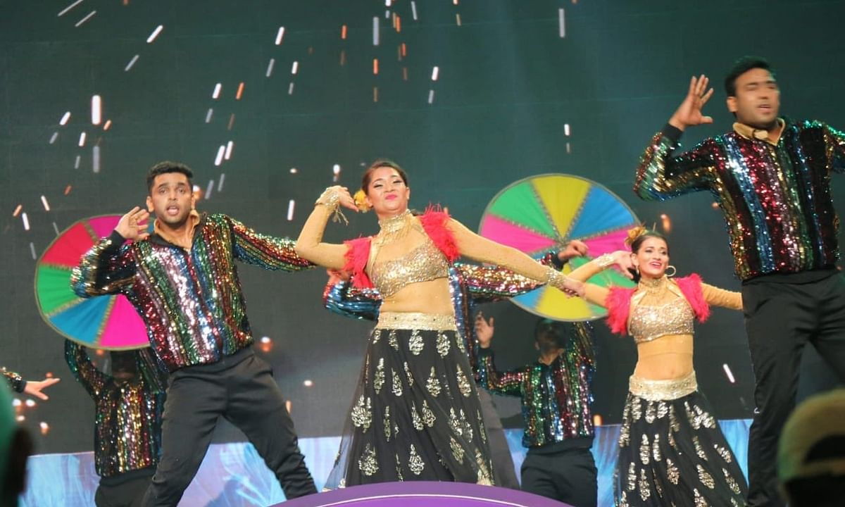 A glimpse from the closing ceremony of the 51st edition of the International Film Festival of India (IFFI) in Panaji, Goa on January 24, 2021.
