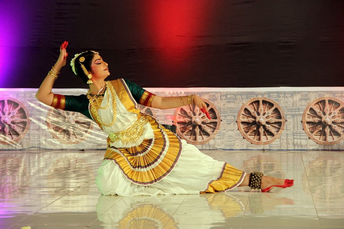 Anita Peter during a dance performance