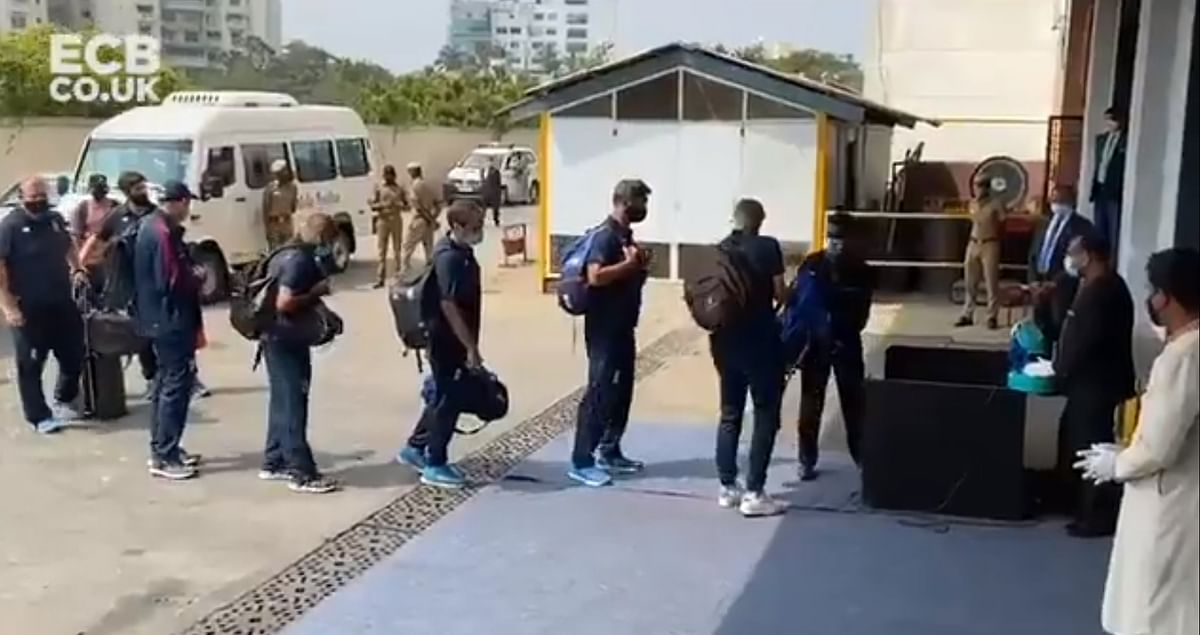 Root-led England team arrives in Chennai ahead of Test series
