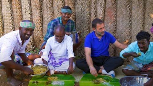 Rahul Gandhi relishes mushroom biryani on Tamil cookery show
