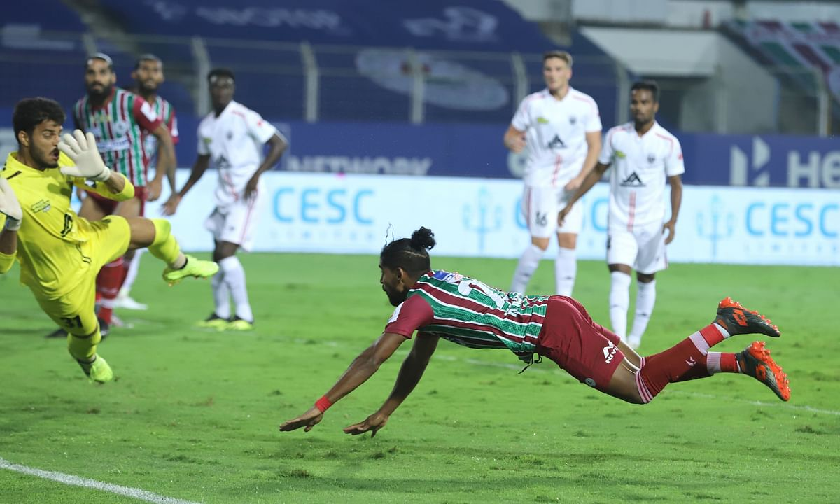 Another display of brilliance by Roy Krishna gave ATK Mohun Bagan the lead against NorthEast United in the Indian Super League at Fatorda, Goa on January 3, 2021.