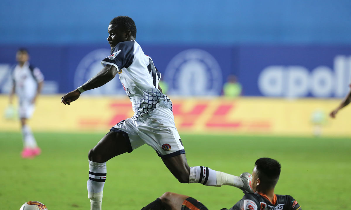 Bright Enobakhare lit up the stadium beating the entire Goa defence to score a delightful goal in the match against East Bengal in the Indian Super League at Vasco da Gama in Goa on January 6, 2021.