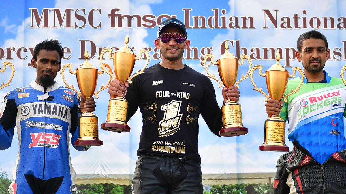 Motorsport: Hemanth Muddappa retains National Drag Racing  title