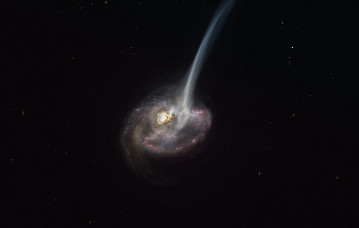 ALMA captures distant colliding galaxy dying out as it loses the ability to form stars