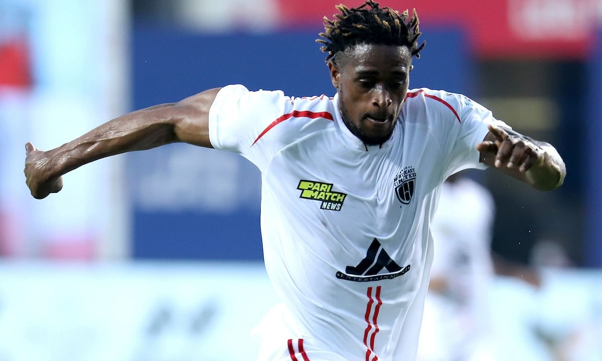 Deshorn Brown made an impact in his first match for NorthEast United FC and helped them score a 2-1 win against Jamshedpur FC in the Indian Super League at Vasco da Gama, Goa on January 17, 2021.