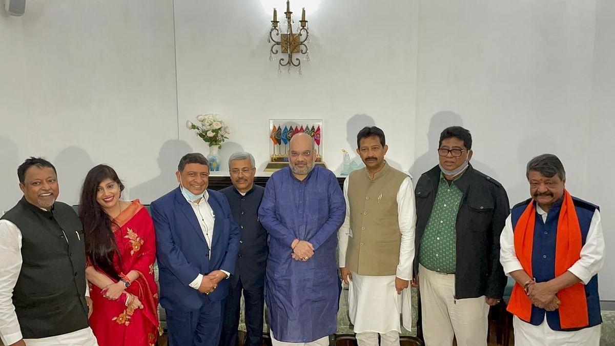 Five Trinamool Congress leaders join BJP