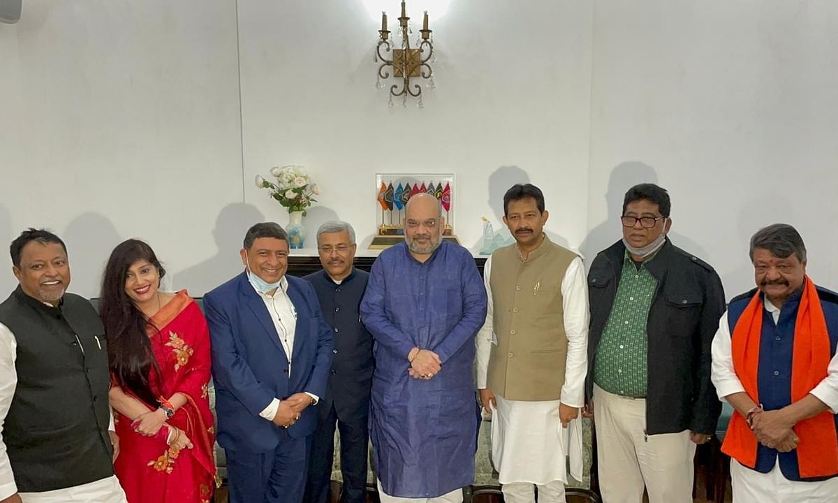 Five Trinamool Congress leaders from West Bengal joined the Bharatiya Janata Party in the presence of Union Home Minister Amit Shah, in New Delhi on January 30, 2021.
