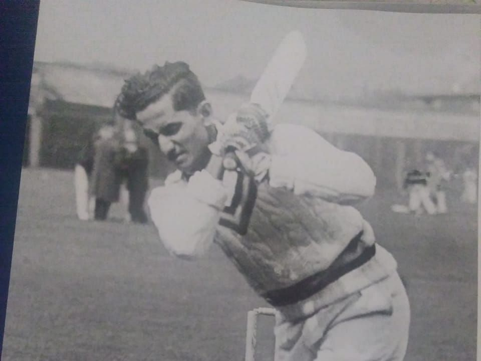 The iconic Vijay Hazare, in one of the rare pictures featured in the book.