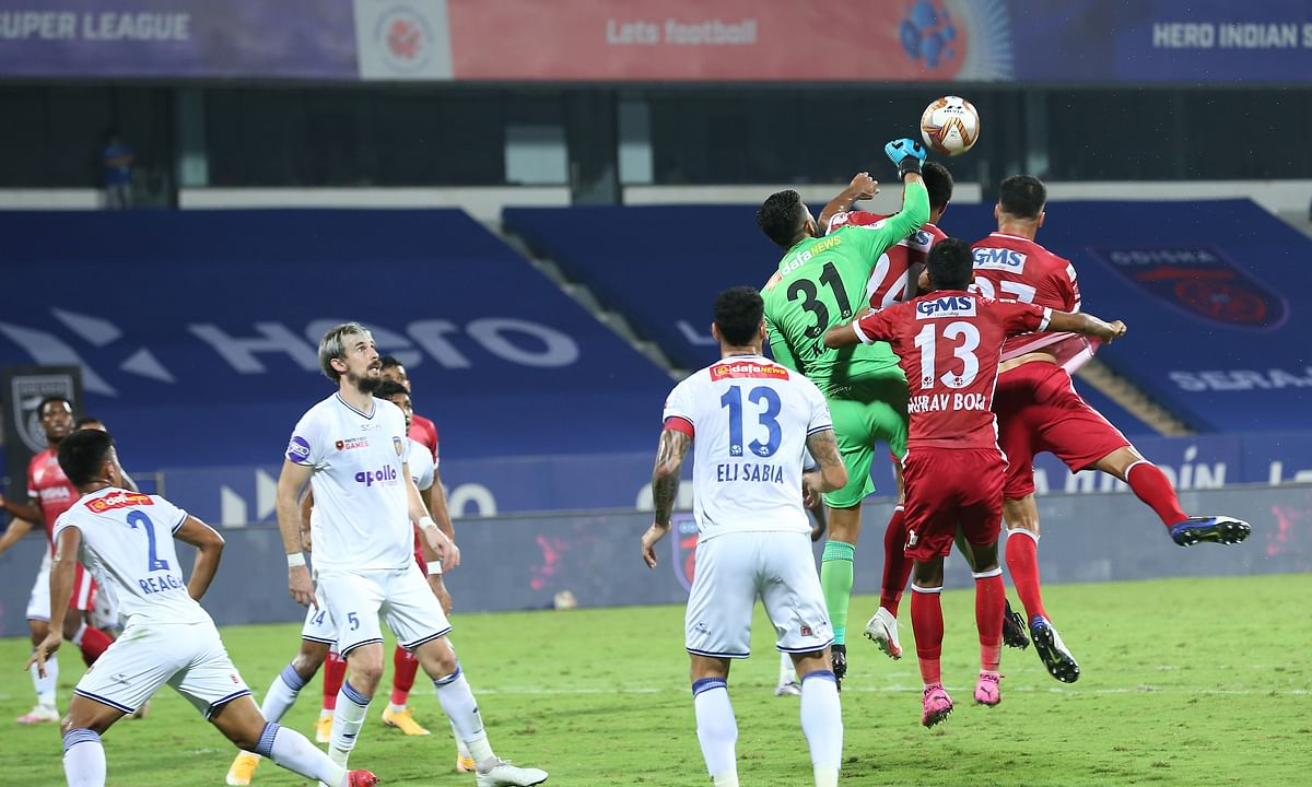 Chennaiyin goalkeeper Vishal Kaith was put under immense pressure but held his nerves to keep the Odisha attack at bay for a 2-1 win in the Indian Super League (ISL) at Bambolim in Goa on January 13, 2021.