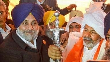 Farmers' protest: Sukhbir Badal honours Tikait at Ghazipur, extends total support
