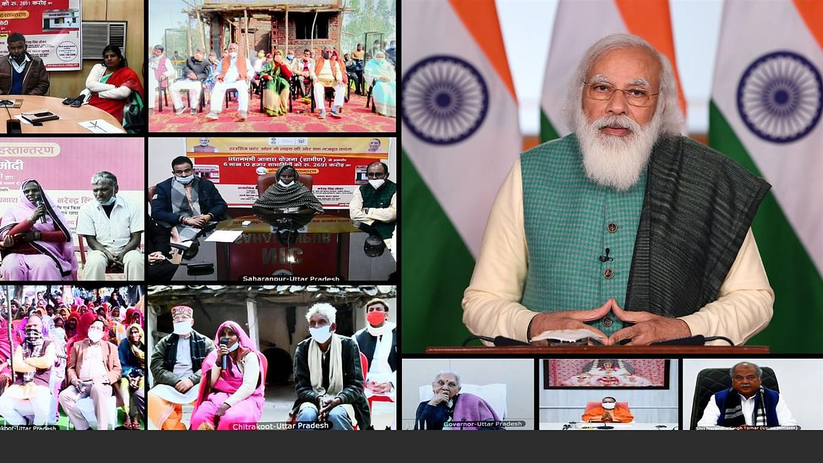 Modi releases financial assistance to 6 lakh beneficiaries in UP under PMAY – Gramin