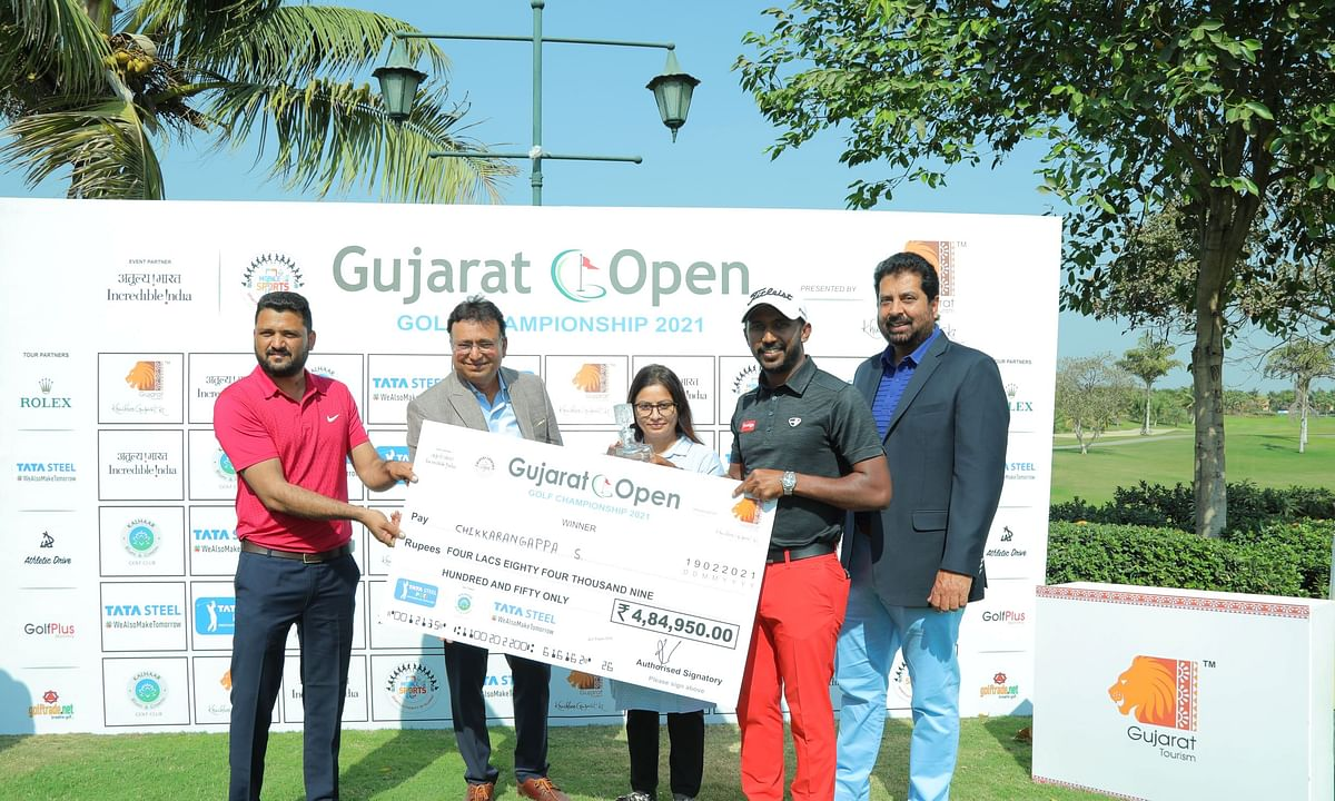 Chikkarangappa fires 4-under 68  for a stunning come-from-behind win at Gujarat Open Golf