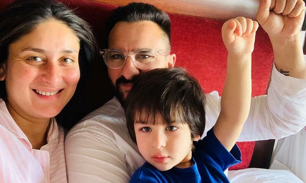 Actors Kareena Kapoor and Saif Ali Khan, with their elder son Taimur. The couple were blessed with their second child, a boy, on February 21, 2021.