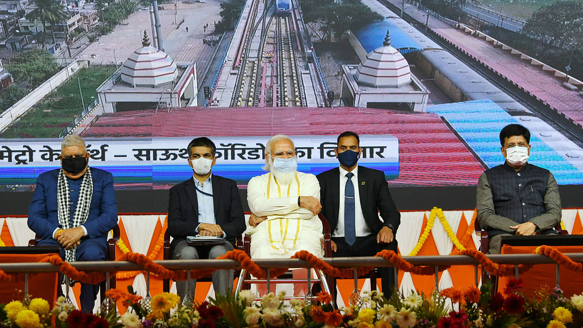 Modi inaugurates several railway projects in West Bengal