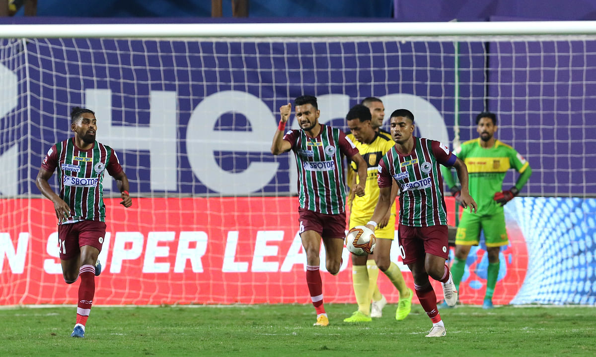 ATK Mohun Bagan found a way through Hyderabad FC's defence to equalise late on in the game at Vasco da Gama, Goa on February 22, 2021.