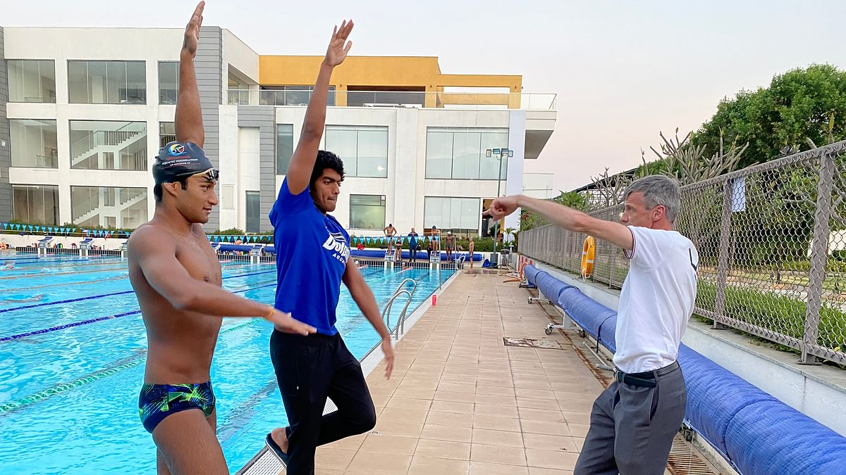 Expecting many Indian swimmers to have 'A' Cuts by next Olympics:  Genadijus Sokolovas
