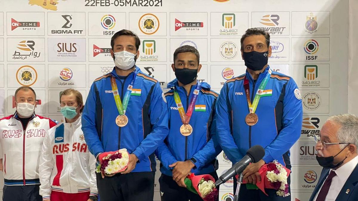 Shooting: Angad Bajwa shines in Skeet Team's bronze-medal win