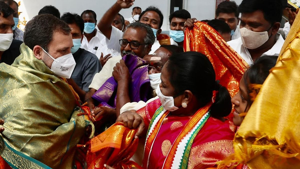 Amid political crisis, Rahul Gandhi lands in Puducherry