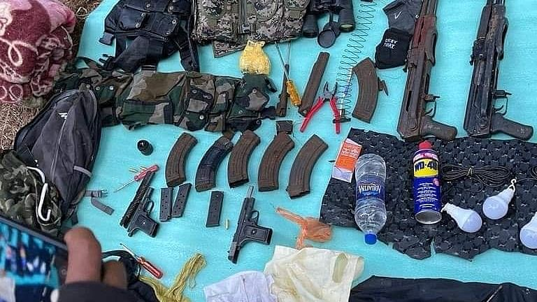 Terrorist hideout busted in Kashmir, weapons recovered