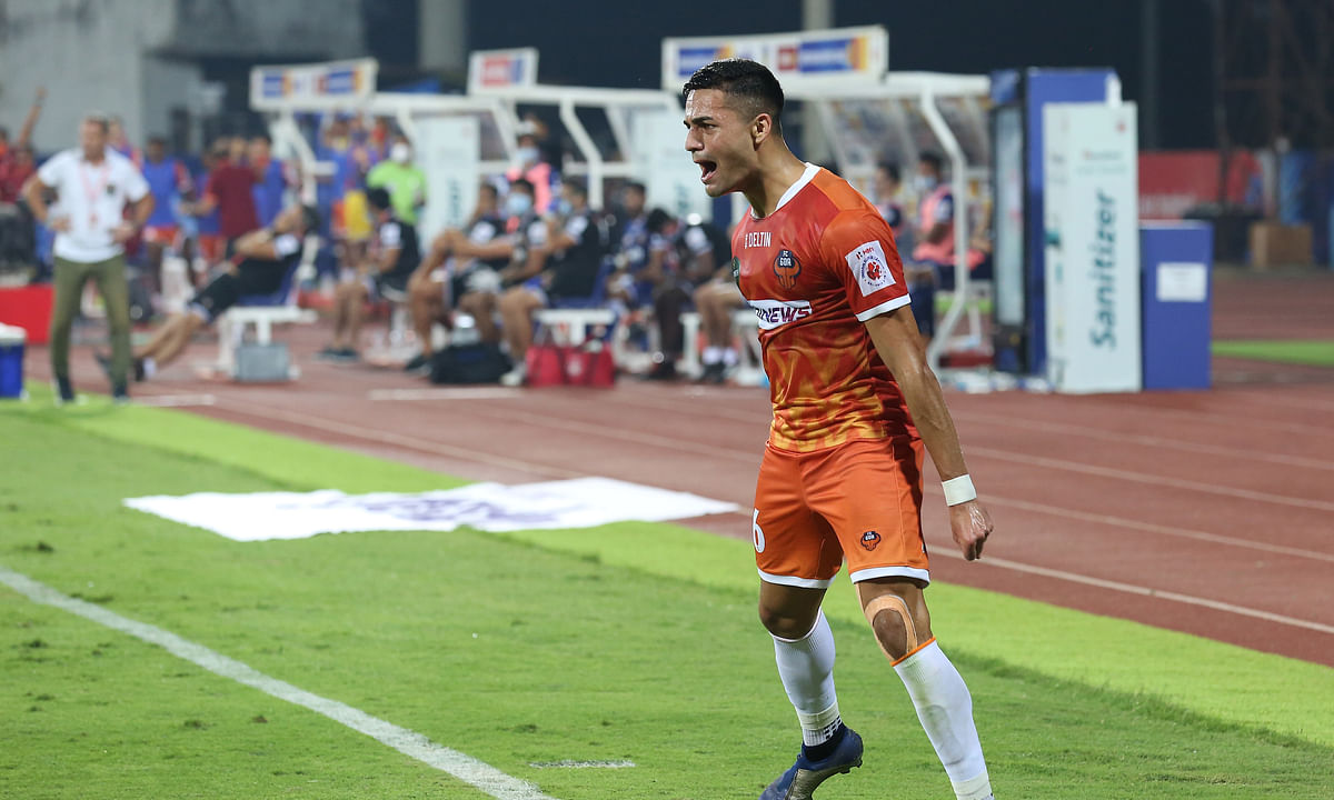 Ishan Pandita changed the game yet again for FC Goa with an injury time equaliser against Chennaiyin  FC in the Indian Super League at Bambolim on February 13, 2021.