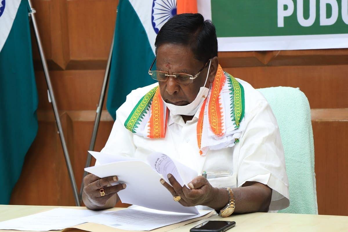 Puducherry CM Narayanasami asked to prove majority on February 22