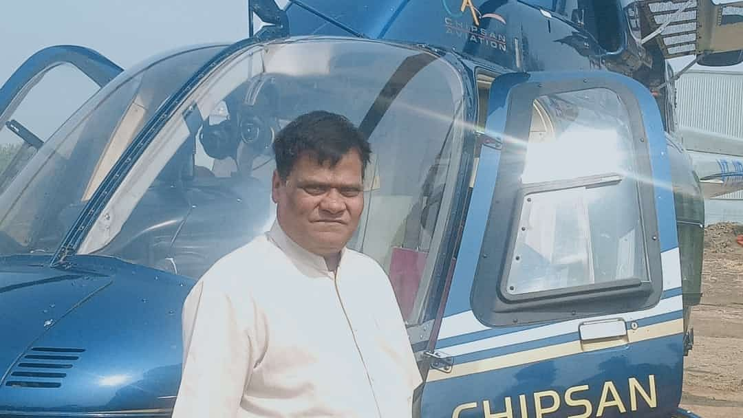 Maharashtra farmer-cum-builder buys helicopter for biz trips