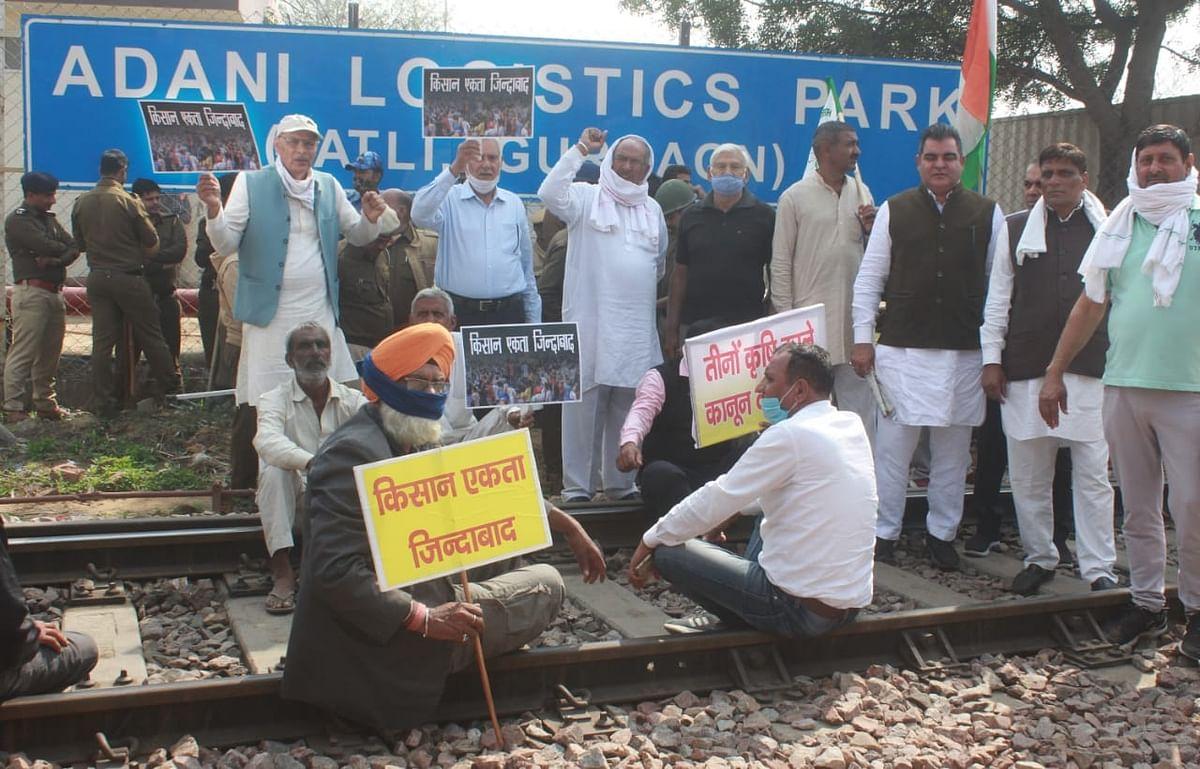 Farmers block tracks but protests remain peaceful in Punjab, Haryana