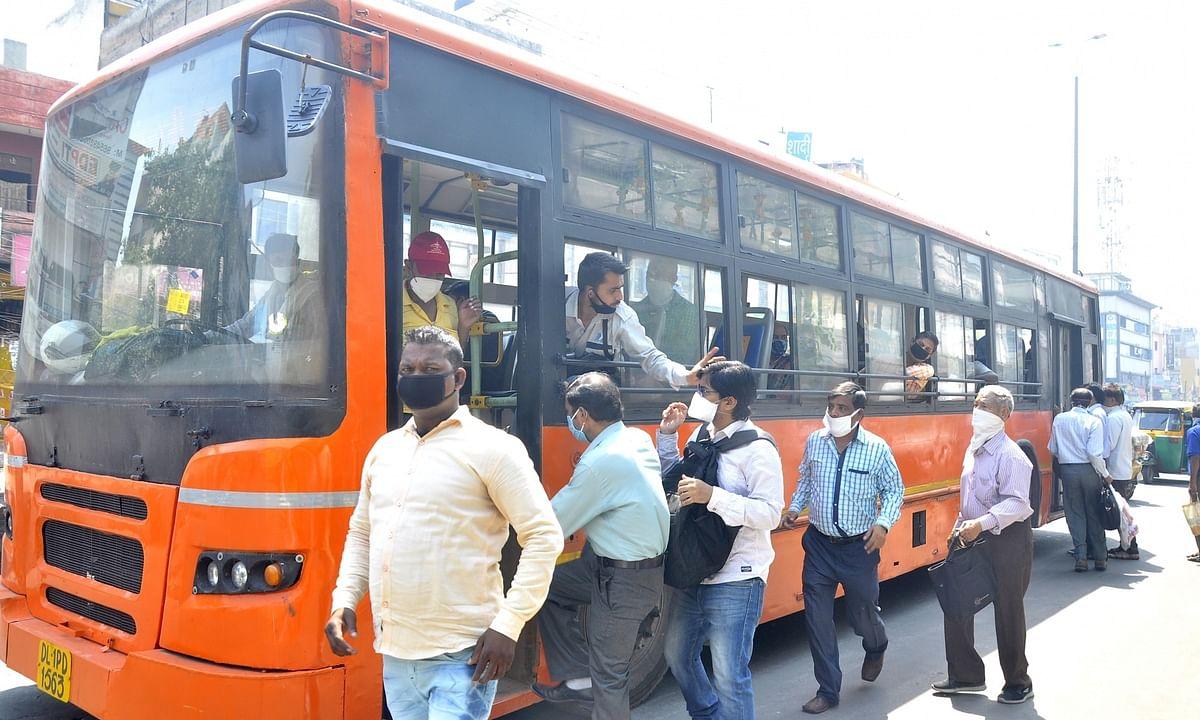 A DTC bus in Delhi