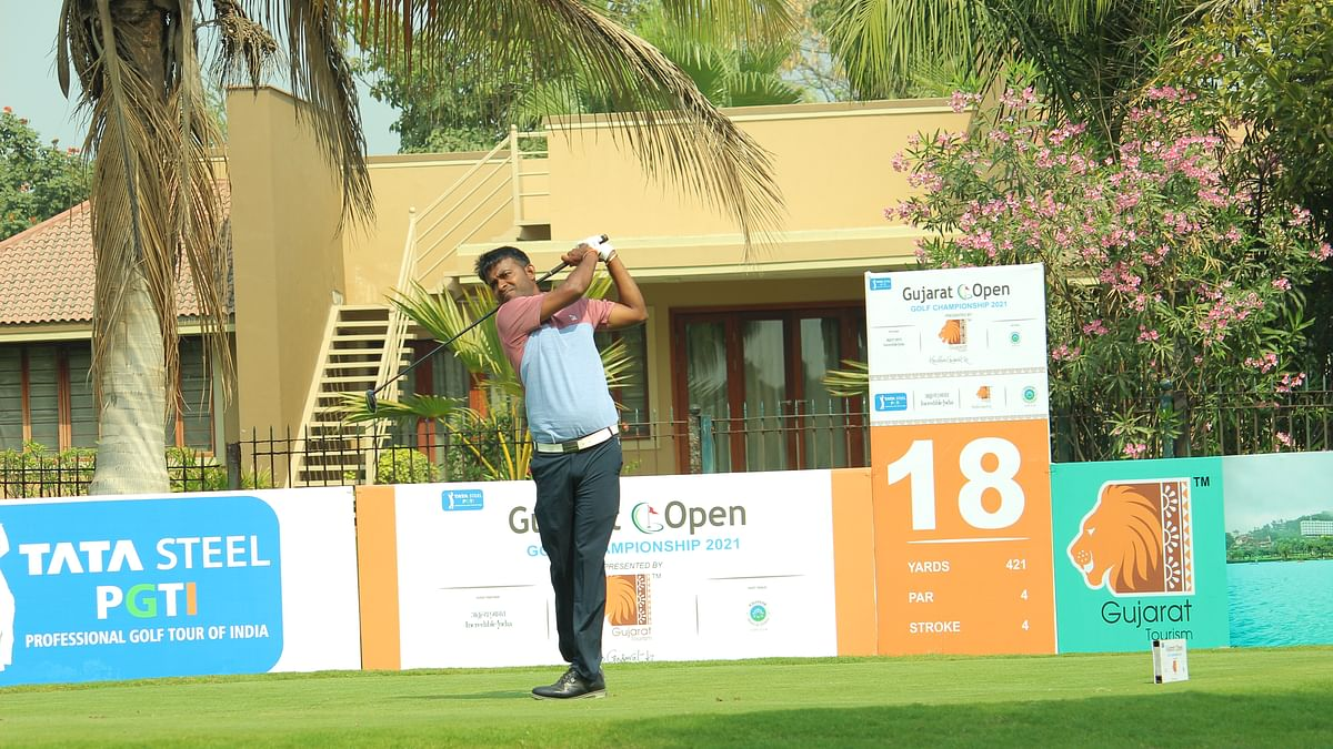 Golf: Chouhan cards one -over 73, still leads by five shots